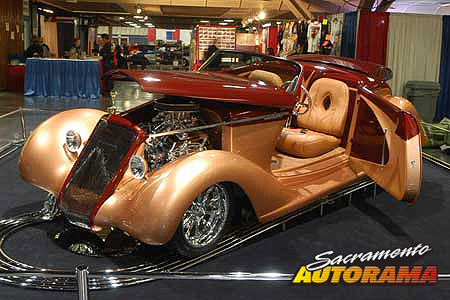2007 Dick Bertolucci Automotive Excellence Award, Outstanding Overall Rod, Outstanding Engine Rod, Outstanding Paint Rod - 1935 Ford Roadster - Kevin and Karen Alstott