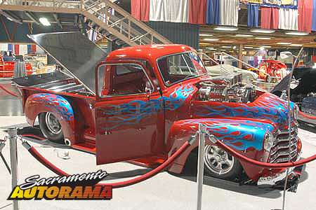 2007 Nick's Pick for Best Use & Display of Flames, Outstanding Engine Truck - 1949 Chevrolet Truck - Phil Leatherman